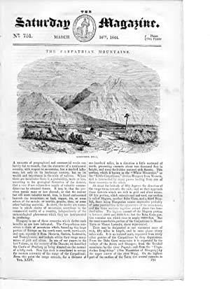 The Saturday Magazine No 751 March 1844 including the CARPATHIAN MOUNTAINS (engraving of Lomnitzer ...