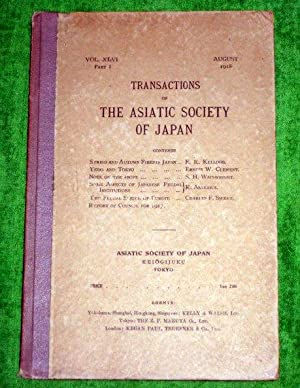 TRANSACTIONS of The ASIATIC SOCIETY of JAPAN. Vol XLIII October 1915. A Survey of the Satsuma ...