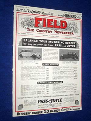 The Field, The Country Newspaper, 3rd October 1931, Magazine, (Marquess of Londonderry (portrait), ...