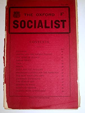 The Oxford Socialist, No II, Feb 1909.: Edited by F.K.G. and G.D.H.C. ( George Douglas Howard Cole....
