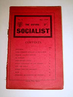 The Oxford Socialist, No 3, May 1909.: Edited by F.K.G. and G.D.H.C. ( George Douglas Howard Cole.)