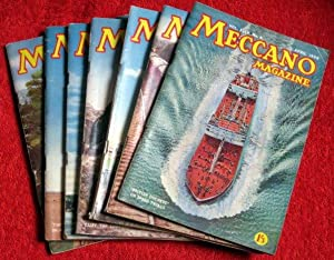 Meccano Magazine. 1959 February, April to July, Sept & Oct. 7 Original Issues.: Meccano