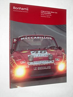 A Sale of Classic Motor Cars and Automobilia, Saturday 10 August 2002, Bonhams Nurburgring auction ...