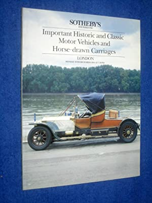 Important Historic and Classic Motor Vehicles and: Sotheby & Co.