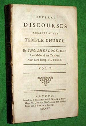 Several Discourses Preached at the Temple Church, Vol II.: Sherlock, Tho.