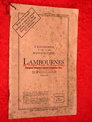 Lambournes Sophos Make of Birmingham. - a Catalogue of Part of the Manufactures of, C1930. ...