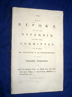 The Report With The Appendix from Committee to Whom The Petition of The Proprietors of The ...