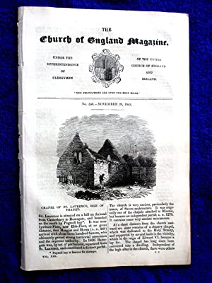 The Church of England Magazine No 556, 29 November 1845. CHAPEL of ST LAURENCE, ISLE of THANET.: ...