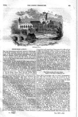 PM 857. The PENNY MAGAZINE of the Society for the Diffusion of Useful Knowledge. ( JEDBURGH ABBEY, ...