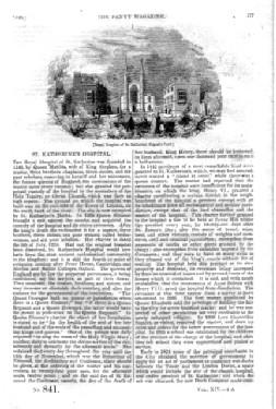 PM 841. The PENNY MAGAZINE of the Society for the Diffusion of Useful Knowledge. 1845. ( The ROYAL ...