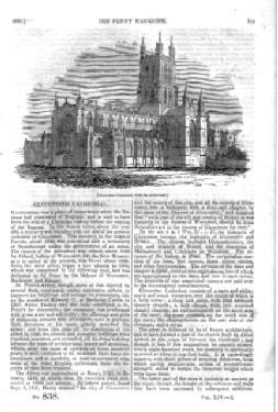 PM 838. The PENNY MAGAZINE of the Society for the Diffusion of Useful Knowledge. 1845. ( GLOUCESTER...