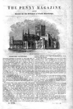 PM 819. The PENNY MAGAZINE of the Society for the Diffusion of Useful Knowledge. 1845 ( HEREFORD ...