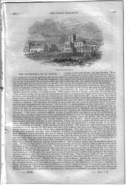PM 809. The PENNY MAGAZINE of the Society for the Diffusion of Useful Knowledge. 1844. ( St DAVID ...
