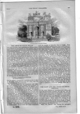 PM 801. The PENNY MAGAZINE 1844 (GUILDFORD, BILLINGSHURST, GODALMING, in the Rambles from Railways ...