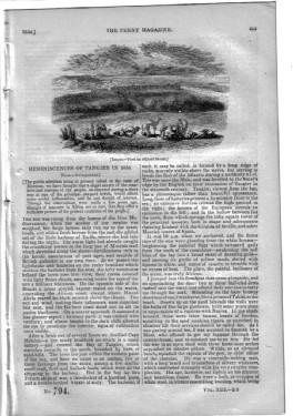 PM 794. The PENNY MAGAZINE 1844 (Reminiscences of TANGIERS in 1836, Morocco, + SHOREHAM, WORTHING, ...