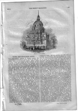 PM 788. The PENNY MAGAZINE 1844 ( HOTEL des INVALIDES - PARIS, + MICHAELANGELO (pt 2, with 3 ...