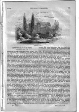PM 782. The PENNY MAGAZINE 1844 ( The LEA (pt 3 of Rambles from Railways) inc AMWELL, HERTFORD, ...