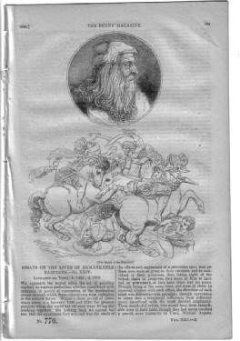 PM 776. The PENNY MAGAZINE 1844 (GURNEY's ATMOSPHERIC BUDE-LIGHT, + REGENT's PARK ...