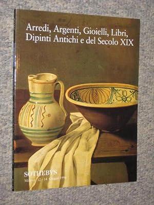 Arredi, Argenti, Gioielli, Libri, Dipinti Antichi e: Sotheby & Co