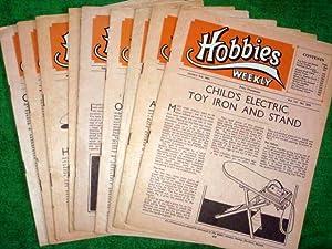 Hobbies Weekly Magazine. 1951, Vols 111, 112. 10 Issues.: Hobbies Weekly.