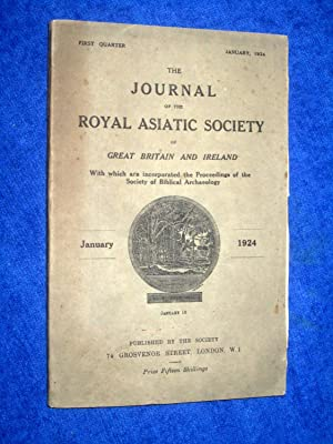 The Journal of the Royal Asiatic Society of Great Britain and Ireland. January 1924. With the ...