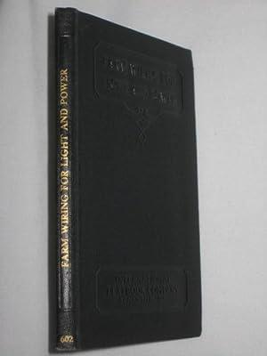 Farm Wiring For Light And Power. International Textbook Company.: Sprague, C. H. & Brand, E. A.