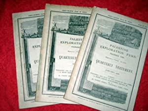 Palestine Exploration Fund Quarterly Statement January, April, July, . 1916. A Society for the ...