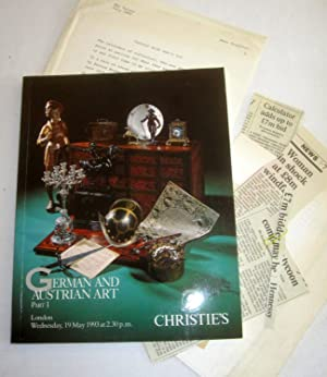 German and Austrian Art Part 1. + extras May 19, 1993 Christie's London Auction Sale Catalogue...