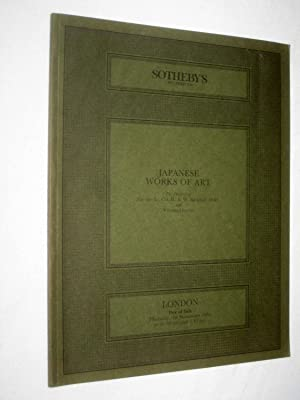 Japanese Works of Art, Property of Lt: Sotheby & Co.
