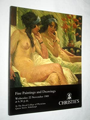 Paintings and Drawings, 22 November 1989. Christie's Scotland Auction Catalogue ASSEMBLY SEVEN...