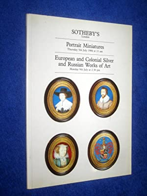 Portrait Miniatures. European and Colonial Silver and: Sotheby Parke Bernet,.