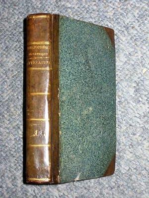 BIBLIOTHEQUE BRITANNIQUE, ou Recueil: extrait des Ouvrages Anglais Periodiques & Autres, des ...