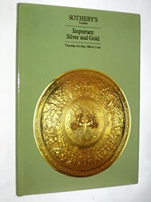 Important Silver & Gold 3 May 1984: Sotheby & Co.