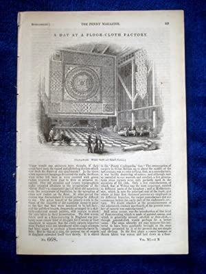 PM 668, A DAY at A FLOOR-CLOTH FACTORY ( Smith & Barber of Knightsbridge). 1842 Penny Magazine ...
