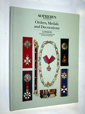 Orders, Medals and Decorations, 6 March 1986: Sotheby & Co.