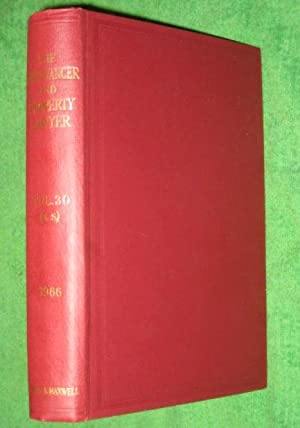The Conveyancer and Property Lawyer. 1966. Vol 30 (New Series).: George, Edward F. & Ernest H. ...