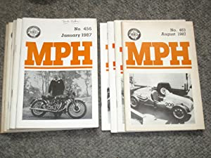 The Journal of the Vincent HRD Owners Club. MPH. Nos 456 to 461 + 463,464,465 of 1987 + 468 of 1988...