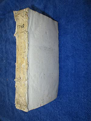 Premiere Suite Des Memoires de Mathematique et De Physique 1748. M.DCCXLVIII. Tirés des ...