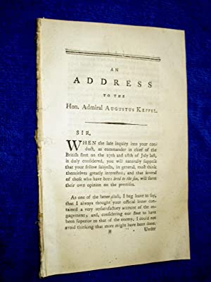 An Address to the Hon. Admiral Augustus Keppel.: Anon ( Probably John Stevenson.)