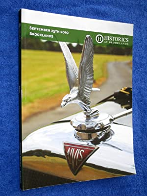 Historics at Brooklands, A002. September 25th 2010. Auction Sale Catalogue of Cars, Automobilia, ...