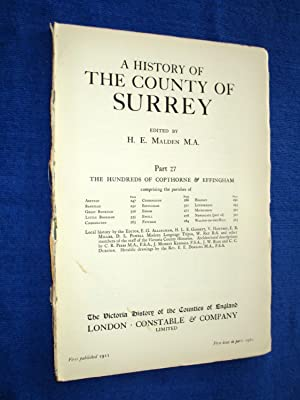 A History of the County of Surrey Part 27, Hundreds of Copthorne & Effingham. Comprising ...