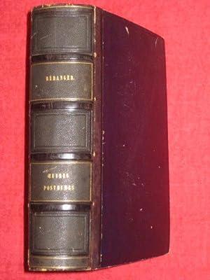Dernières chansons de P. J. de Béranger de 1834 à 1851. Avec une lettre et une...
