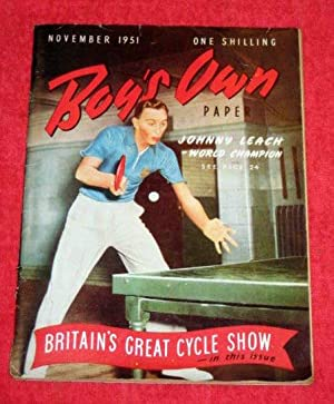 Boy's Own Paper. Vol 74, No.2. November 1951. Magazine includes Johnny Leach on Table Tennis, ...