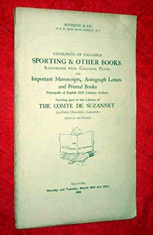 Catalogue of Valuable Sporting & other books illustrated with coloured plates and Important ...