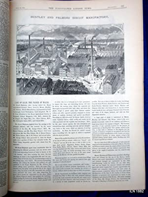 The Illustrated London News Supplement to 29 July 1882. HMS Alexandra at Alexandria. Royal Visit to...