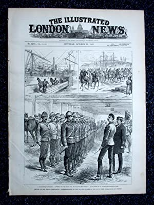 The Illustrated London News, 28 October 1882. The Return of Troops from The War in Egypt, Teesdale ...