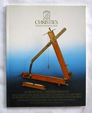 Scientific Instruments including the Josef Pieter Zallinger Collection of Scientific Instruments ...