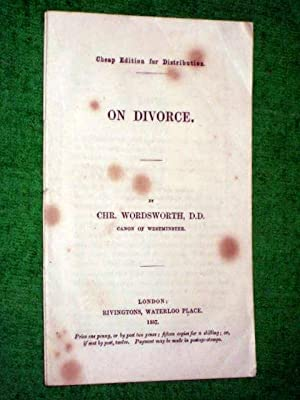 On Divorce.: Wordsworth, Chr