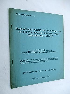 FIAT Final Report No. 429. DEVELOPMENT WORK: Field Information Agency;