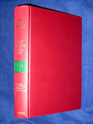 The Digest Annotated British, Commonwealth and European Cases Volume 29, 1982 Green-Band Reissue. ...